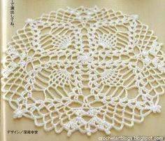 Crochet piña pequeña Tapetito