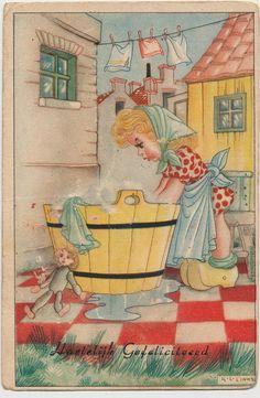 vintage postcard by Karel Links, from janwillemsen, via Flickr