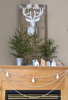 Scandinavian Inspired Christmas Home Tour 2015: Simple, rustic, white, and Scandi inspired Christmas decor.
