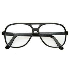 Black Retro 1980 s Basic Square Aviator Clear Lens Glasses 8043 Armações De  Óculos, Anos 80 7fdd920fc1