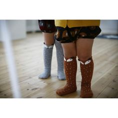 Raccoon Knee Socks | Brown  Darling knee socks for play & warmth  size S (1-2y) size M (3-4y)  ...