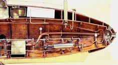 Scale Model Gallery - Ictineo II - World's First Steam Powered Submarine (1864) - Fore-half Section Details