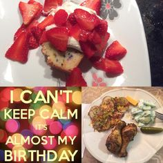 It's my birthday tomorrow but took a home made dinner and cake to my Nanny and Grandpas for an early celebration. Garlic and paprika chicken baked potato slices with shredded cheddar bacon crumbles and chives cucumber salad with a creamy dill dressing and some pickles and cheese. Made a homemade from scratch funfetti pound cake and topped it with lactose free whipped cream and strawberries. Yum! #birthday #dinner #cake #yum #homemade #fromscratch #healthy #healthyfood #healthylife #hea...