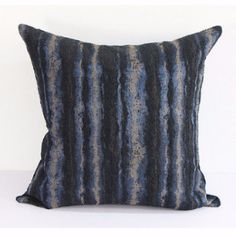 """PRODUCT Decorative Pillow DIMENSIONS 20"""" X 20"""" PILLOW COVER Blue/Black/White; 100% Polyester PILLOW INSERT Inserts are available from the most commonly used Polyester to Luxury Synthetic Down and Down Feather insert. All inserts are 100% made in the USA with the best quality guaranteed PACKAGING Pillow Cover is packaged with either transparent plastic packaging bag or tissue paper sheet; Pillow Insert is packed with plastic bag SHIPPING INFORMATION Product ships out within 48 hours of re..."""