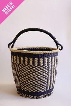 Leather Handle Bolga Basket
