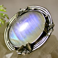 Moonstone Ring Statement Ring Sterling Silver Jewelry