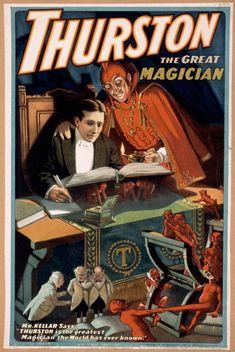 Cartaz vintage de Thruston, the Great Magician