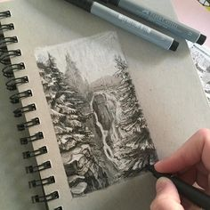 Sorry for the lack of posts recently. I have been concentrating on a personal project which is now nearly finished so I can hopefully start posting my drawings more often.  #art #drawing #pen #sketch #illustration #forest #landscape #fabercastell