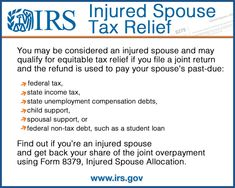 You may be an injured spouse if you file a joint t...