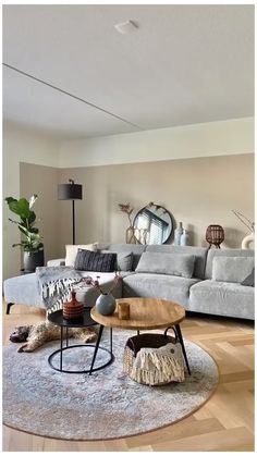 Living Room On A Budget, Living Room Grey, Small Living Rooms, Living Room Modern, Rugs In Living Room, Neutral Living Room Sofas, Copper Living Room Decor, Living Room Decor Grey And White, Living Room Decorations