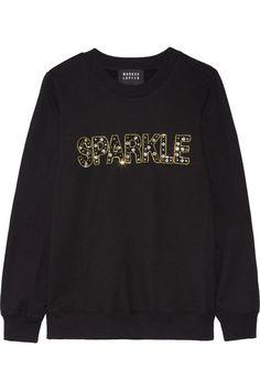 MARKUS LUPFER Anna embellished cotton sweatshirt. #markuslupfer #cloth #tops