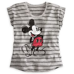 Mickey Mouse Rhinestone Tee for Women | Tees, Tops & Shirts | Disney Store m- it's got some bling on it!