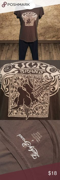 Lucky Brand Tee Super nice lucky brand tee shirt. 100% cotton. Feels almost vintage. Complete the outfit with a pair of lucky jeans from my closet! Lucky Brand Tops Tees - Short Sleeve