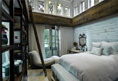 Cozy Country/Rustic Bedroom by Susan Fredman  on HomePortfolio @fredmandesign