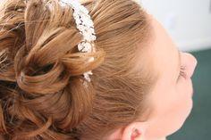 Bridal wedding hair.