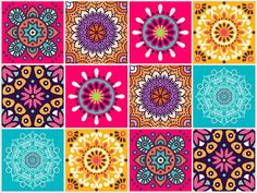 Watercolor Painting Techniques, Dot Painting, Cute Wallpapers, Wallpaper Backgrounds, Easy Mandala Drawing, Ceramic Tile Art, Decoupage Printables, Ramadan Crafts, Bright Art