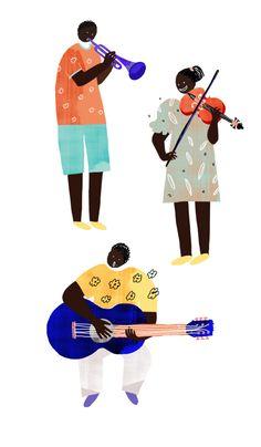 World Together(월드 투게더) thank-you card, music, player,musician,violin,instrument ,guitar ,Kenya, Ethiopia ,Africa