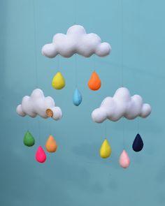 Feitas à mão decorativos nuvem móvel das crianças, decoração do berçário.