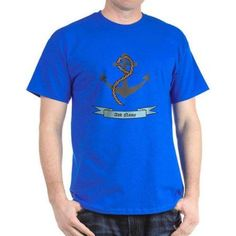 Cafepress Personalized Name Anchor Dark T-Shirt, Men's, Size: 3XLarge (+$3.00), Blue