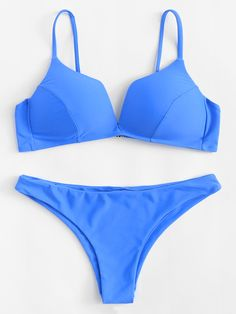 SheIn offers Adjustable Straps Bikini Set & more to fit your fashionable needs. Swimwear Fashion, Bikini Fashion, Bikini Swimwear, Bikinis, Beachwear Clothing, Bathing Suits One Piece, Cute Bathing Suits, Modest Swimsuits, Cute Swimsuits