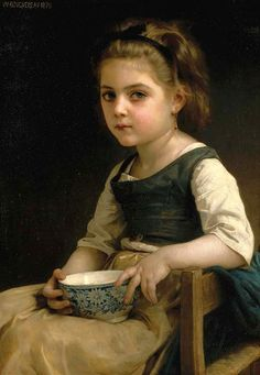 Little Girl with a Blue Bowl