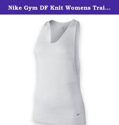 Nike Gym DF Knit Womens Training Tank Top Size S. A loose fitting piece that is great for layering, Nike Gym Dri-FIT knit tank blends Dri-FIT jersey fabric with open hole mesh with seamless construction for excellent stretch and mobility. Ribbing at the hem helps to snug the fit. Color: White/Cool Grey Body: Dri-FIT seamless Fit: Midwest Sports only ships Nike products to domestic addresses in the U.S. and U.S. Territories. .