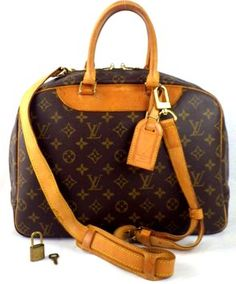 94aa21dc0ead Louis Vuitton Trouville With Strap Brown Travel Bag Weekend Travel Bag