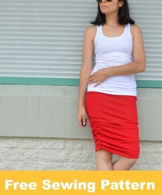 FREE SEWING PATTERN: The Rachel skirt