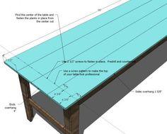 Narrow Farmhouse Table Tutorial