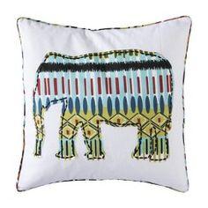 """Mudhut™ Etosha Elephant Pillow - 18x18"""""""