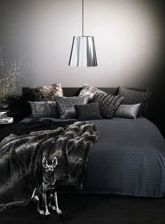 gray faux fur throw
