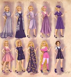 20th Century Fashion Best of Disney Art by Basak Tinli Illustration & Design