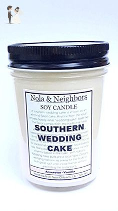 Southern Wedding Cake candle - Vanilla and almond, amaretto scent - Wedding / Brides maid gift - Wedding candles and holders (*Amazon Partner-Link)