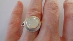 Cats Eye Moonstone Art Deco Sterling Silver by VistaSilver on Etsy