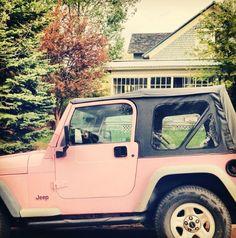 Rock a pink jeep :)