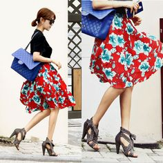 Ssongbyssong Women's Sensibility 7:72 A.M. Shirring Skirt High End Fashion Brand #ssongbyssong #FullSkirt