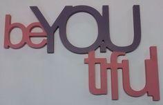 Beyoutifull-napis na ścianę. w vitro4u na DaWanda.com