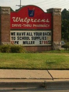 Oh, I guess they're actually advertising back-to-school supplies for the teachers!