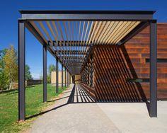 Studio B builds Colorado school with weathering steel and red cedar walls