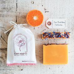 Poppy Soap Co Organic Handmade Bar Soap in Sea Buckthorn Satsuma | eBay