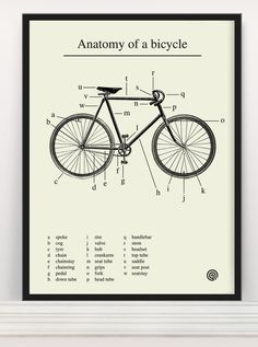 #Anatomy of a #bicycle