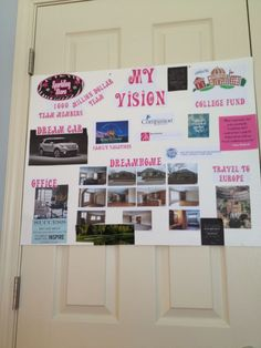 Love this simple vision board. Write The Vision, Goal Board, Creating A Vision Board, Visualisation, Goal Planning, Setting Goals, Goal Settings, Making Ideas, How To Plan