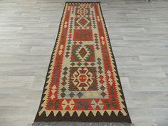 Afghan Hand Made Choubi Kilim Runner Size: 249 x 77cm