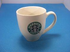 Starbucks White with Green Siren Logo 14 oz. Coffee Mug 2007