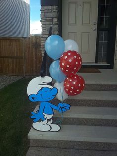 Sam Z's Birthday / The smurfs - Photo Gallery at Catch My Party Fairy Birthday Party, 3rd Birthday Parties, Birthday Party Decorations, Birthday Ideas, Impreza, Party Time, Party Ideas, Smurfette, Barn