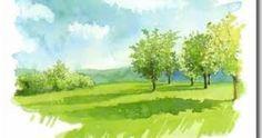 Les arbres fait en aquarelle