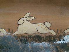 ELDRETH Signed Redware Pottery Rabbits / Bunnies Primitives Design Dish 2006 MC | eBay