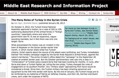 January 28, 2013 - PAPER - ANALYSIS - TURKEY - BORDERS - HISTORY - KURDS -  Syria and Turkey have had an uneasy relationship since the end of World War I, when both states were carved out of the Ottoman Empire.