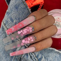Clear Acrylic Nails, Acrylic Nail Tips, Bling Acrylic Nails, Polygel Nails, Swag Nails, Milky Nails, Exotic Nails, Studded Nails, Fire Nails