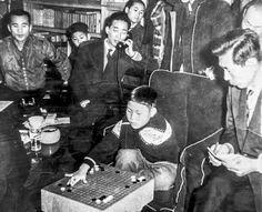 10 y.o. Cho Hunhyun vs 14 y.o. Ishida Yoshio. First Korean game, played by phone, 1963. Ishida won.